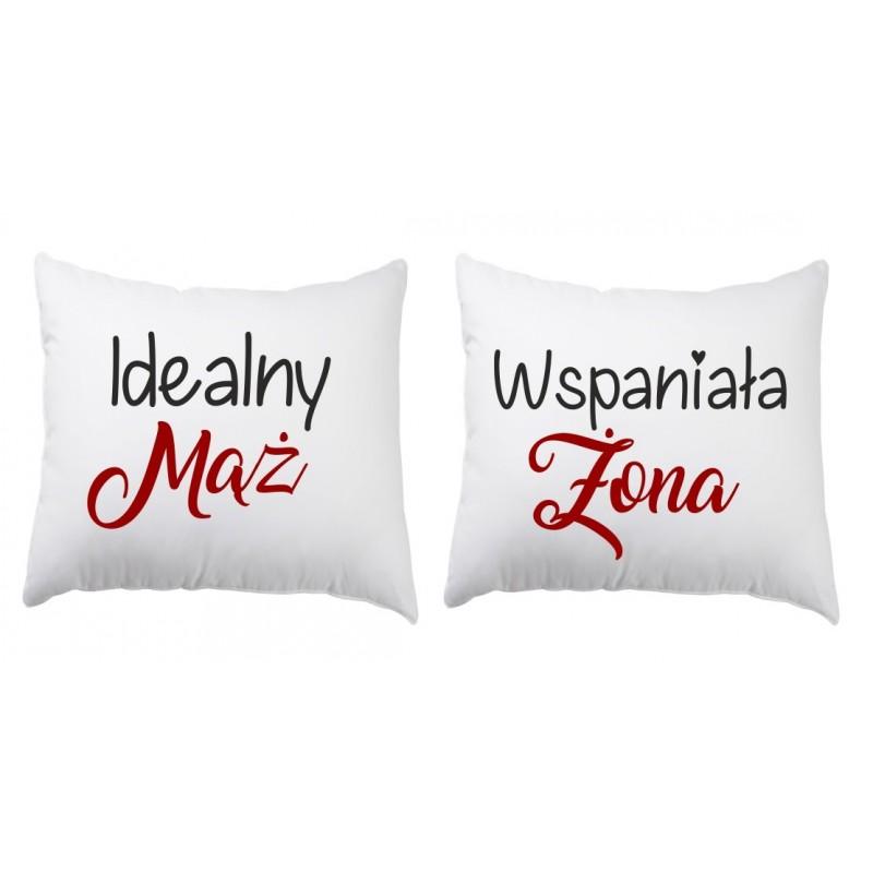 Zestaw 2 Poduszek Dla Par Zakochanych Walentynki