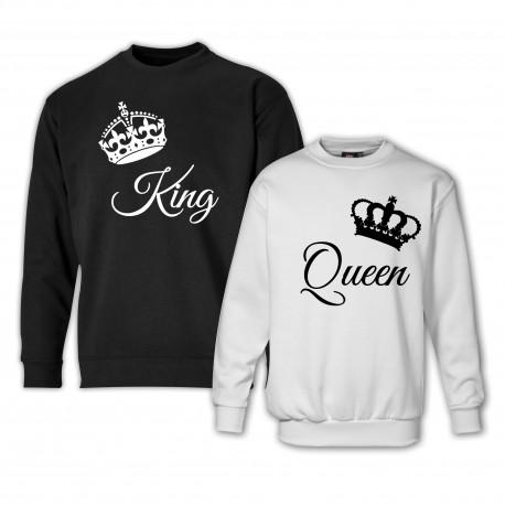 Bluzy dla par zakochanych KING QUUEN