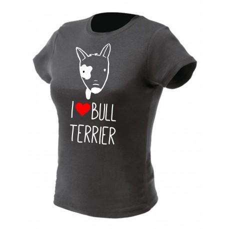 Koszulka I LOVE BULTERIER