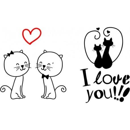 Kubki dla par zakochanych KOTY 2szt z imionami GRATIS
