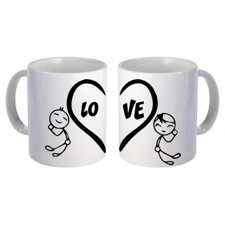 Kubki dla pary zakochanych LOVE 2szt z imionami GRATIS