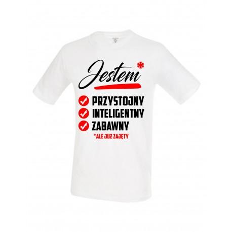 JESTEM PRZYSTOJNY INTELIGENTNY ZABAWNY Koszulka