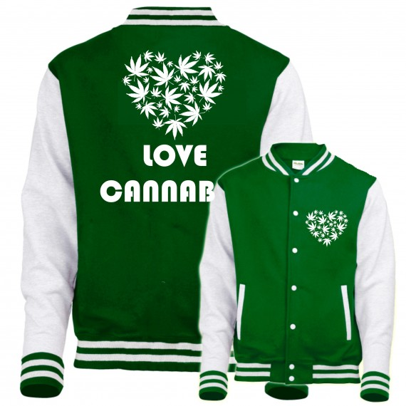 BLUZA BASEBALL KEEP CALM AND SMOKE WEED ZIOŁO