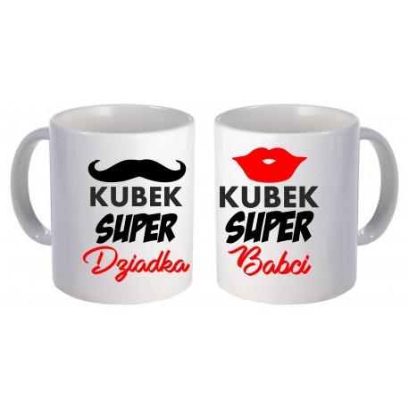 -KUBEK SUPER DZIADKA I SUPER BABCI-